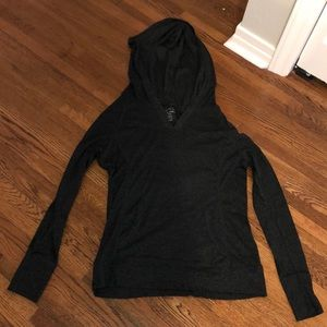 Charcoal gray lightweight pull over